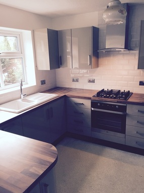 Colour matched kitchen installation Cheshire